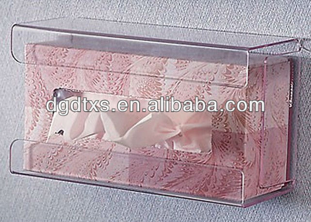 Wall mounted acrylic tissue box