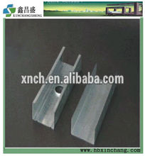 galvanized metal perforated stud and track dimension