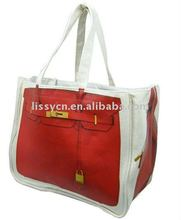 2011 fashion handle canvas bag