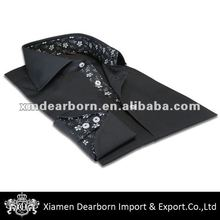 Black Shirts For Men Italian with Spread Collar