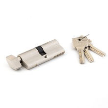 One side knob one side key lock cylinder, guard security door cylinder push barrel lock with knob
