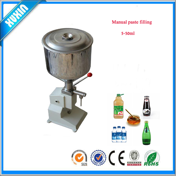 A03 manual cream bottle filling machine for cosmetic , medicine , chemical