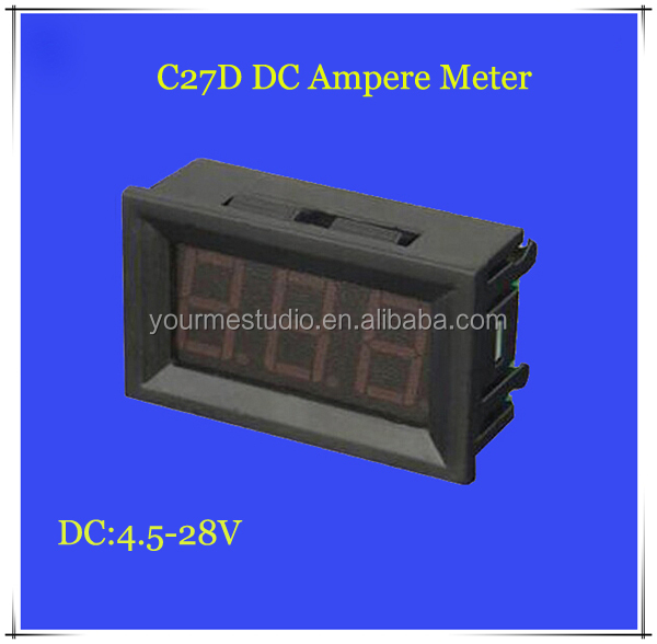 Factory Price Led Digital Display DC Ampere Meter 0-50A