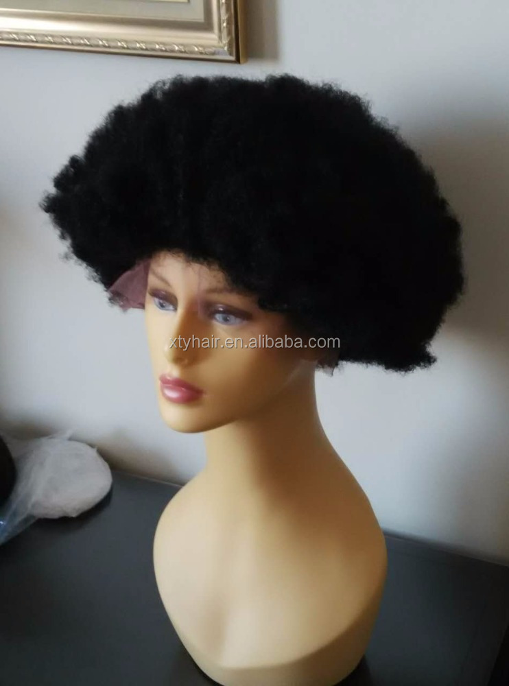 Michael Jackson style afro lace wig 100% human hair full lace wig, lace front wigs black men