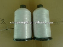 100% spun polyesterraw white sewing thread