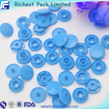 Fashionable color round clothing accessory plastic snap button custom easy button for promotional