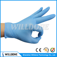blue nitrile glove,antistatic nitrile glove,disposable gloves nitrile