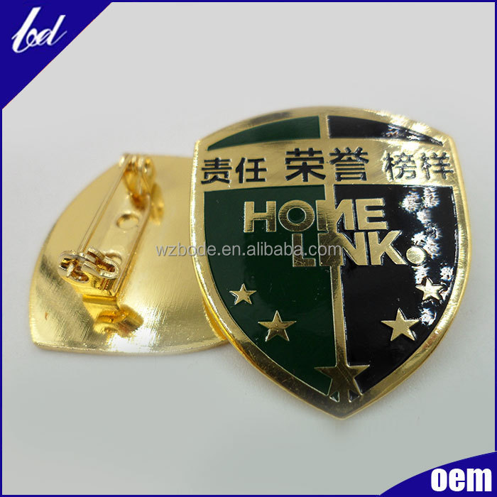 China supplier cheap custom design hard enamel badge
