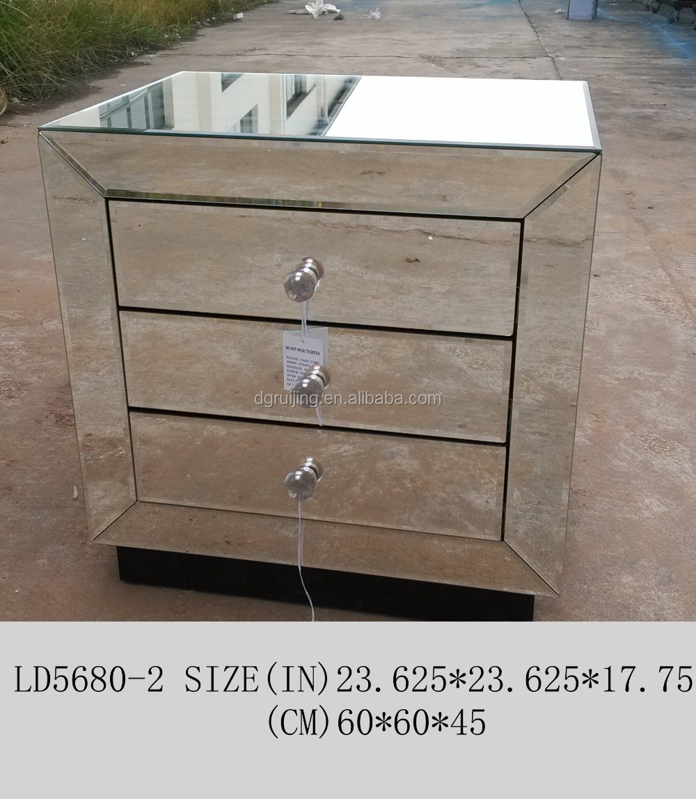 Luxury white vintage style Bedside table