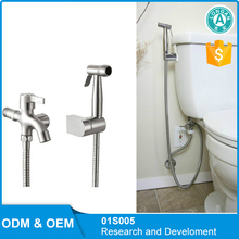 Toilet flexible bidet spray faucet and hose