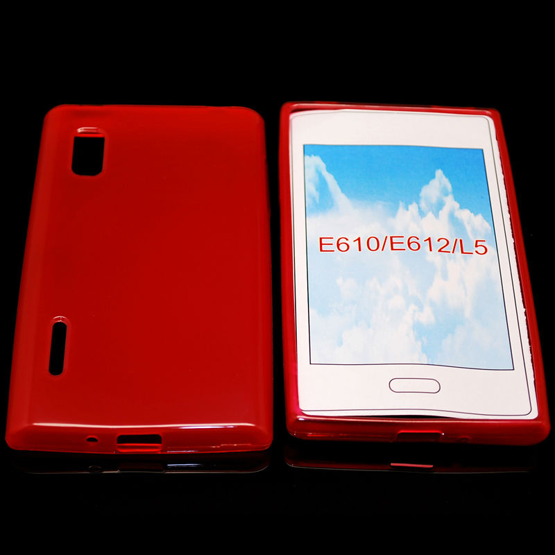cellphone tpu case (gross outside,mette in side) for LG optimus L5 E610
