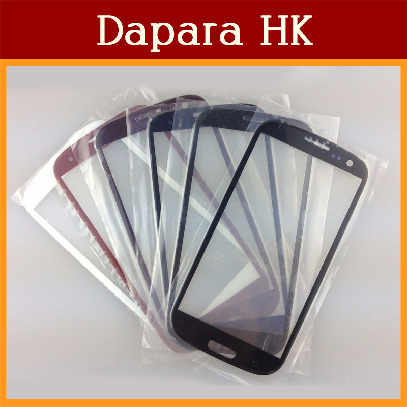 10PCS/LotHigh Quality Outer Glass Lens For Samsung Galaxy S3 i9300 E210 T999 i747 / Black White Pink Red
