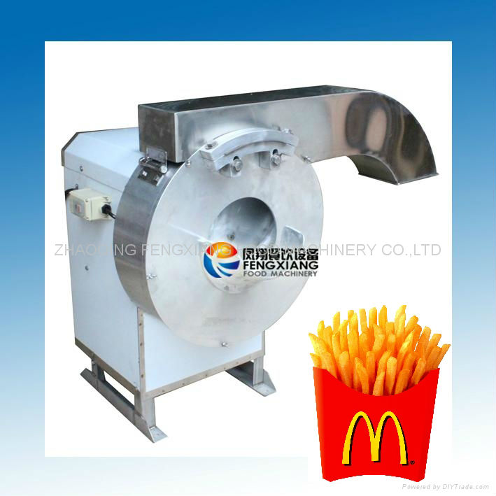 FC-502 Automatic Electric French Fries Cutter, Potato Taro Radish Papaya Melon Slicing Cutting Machine....SKYPE: selina84828