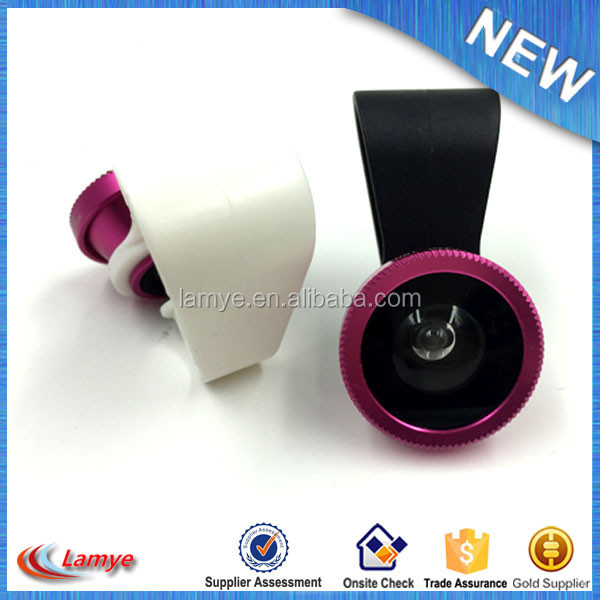Promotion gift Fish Eye+Macro+Wide mobile camera lens