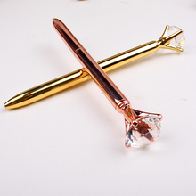 2018 new market wholesale luxury crystal metal ball pen best wedding gift promotional pen with 3d diamond