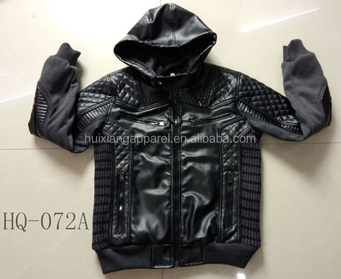 Custom logo avalilable adult men coat winter faux fur motorcycle jacket