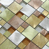 Factory Direct Price Home Depot Aluminum Metal Mosaic Tiles