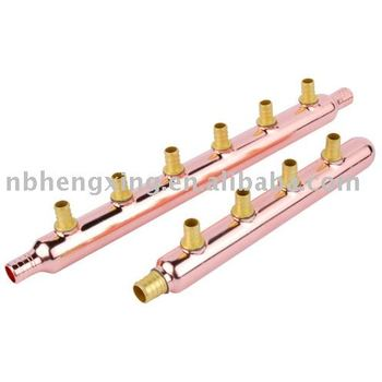 copper manifold with valve