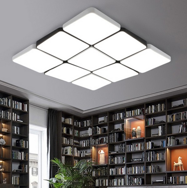 Minimalism Modern LED Ceiling Lights Living Room Bedroom Kitchen Ceiling Lamp White And Black Ceiling Lighting Fixture MD85097