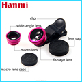Best selling Fish Eye 3in1 Clip-on smartphone super wide Angle lens 2017 Trending products