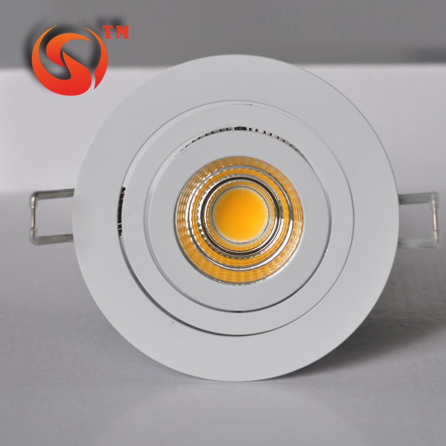 Anti-glare 15w round cob led downlight , UGB less than <strong>10</strong>