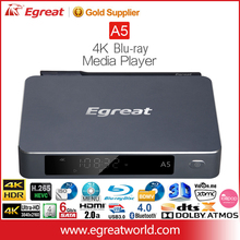 Egreat A5 4K HDR Ultra HD Blu-ray Menu HDD Reproductor MultiMedia con el sporte de Blu-ray Navegación Menu ISO BDWV