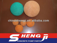 DN125 Soft/Medium/Harden Putzmeister concrete pump pipe cleaning rubber sponge ball