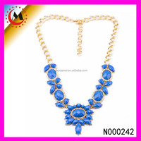 large costume jewelry necklace 24k gold plated jewellery