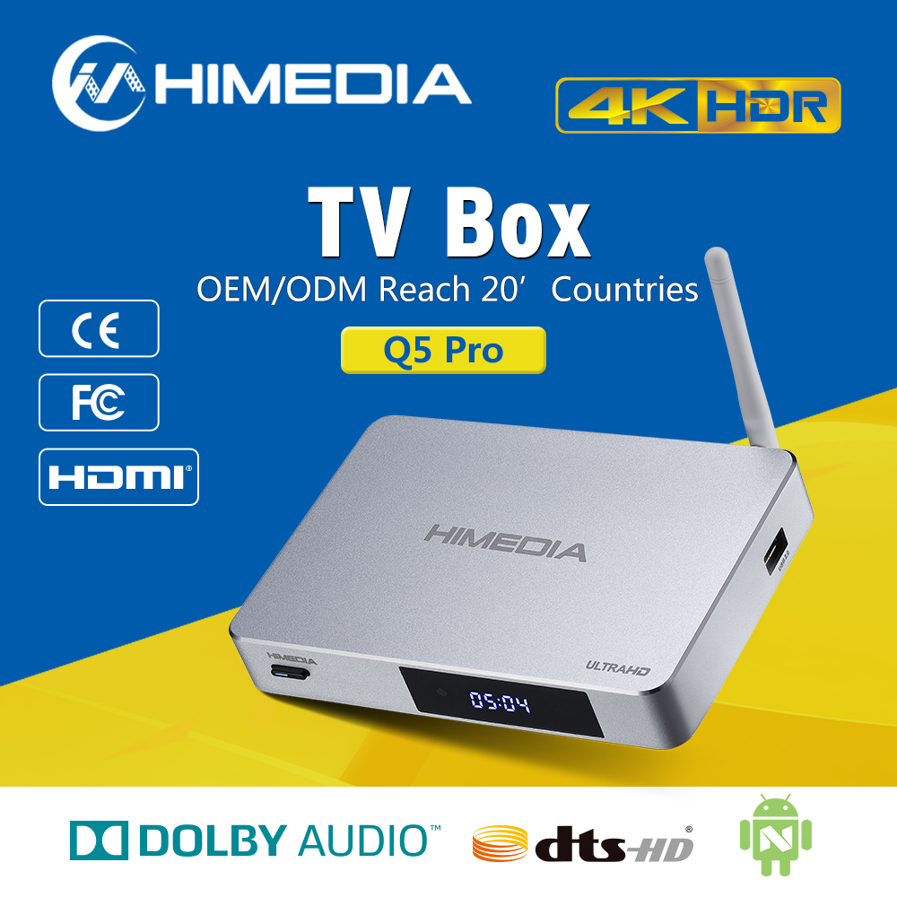 Himedia Quad Core 4K Android Smart TV Box Q5 pro Android Media Player