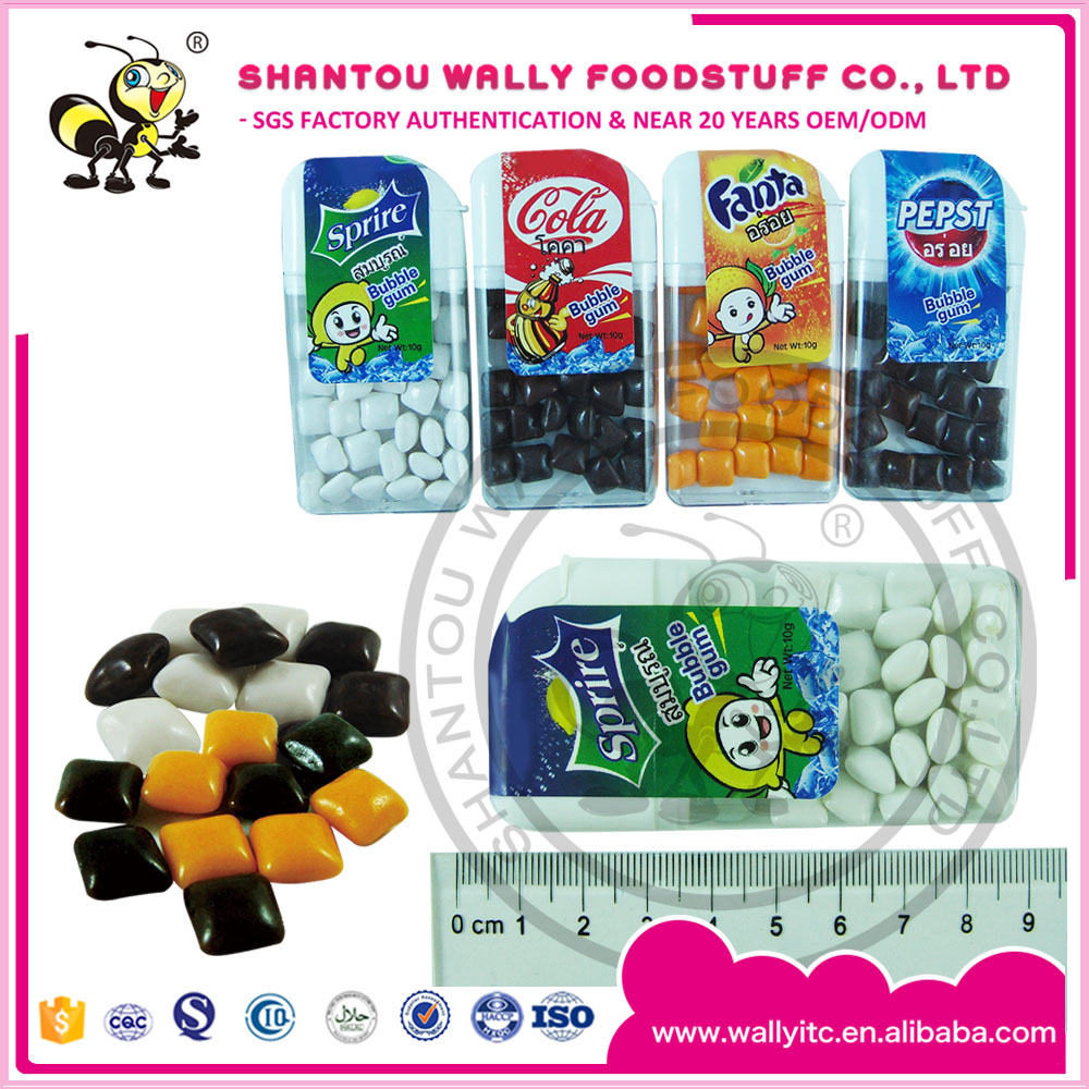 China Mini Chewing Gum Bubble Gum Balls Mix Cola Fanta Sprite Flavours In Bottle