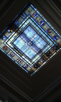 stained glass piece for skylight window