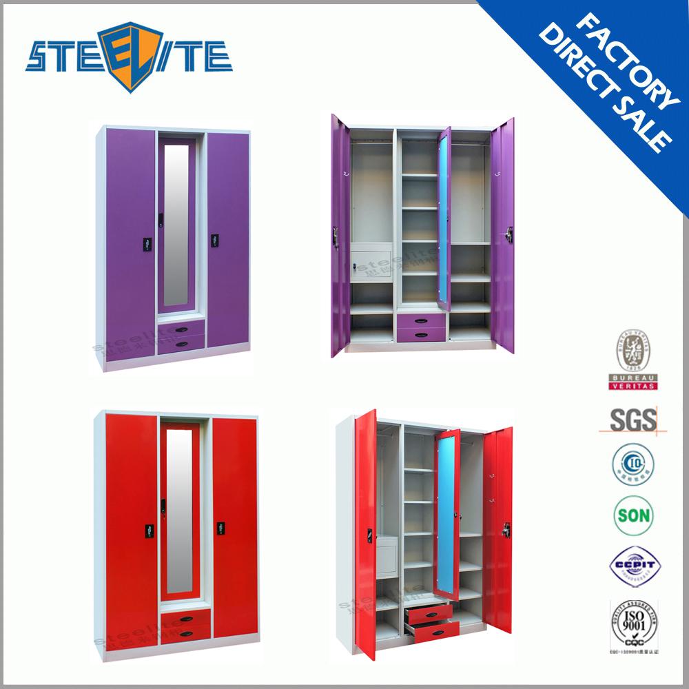 Hot sale bedroom godrej steel iron almirah cupboard for Bedroom almirah designs india