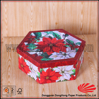 fancy flower shape paper gift boxes