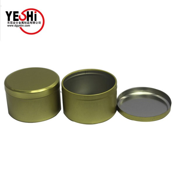Supply free sample round metal box for snuff tobacco