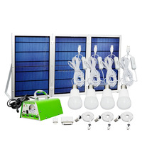 30W portable solar lighting system kit /solar lighting system/for home and outdoor use