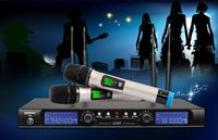 500 working distance uhf karaoke wireless microphone system