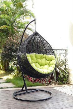 Hot sale outdoor hammock wicker furniture rattan swing chair