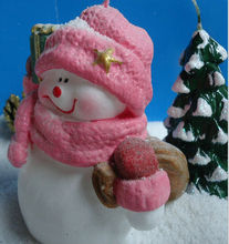 2014 new santa claus christmas candle/Romantic snowman model shape wax candle