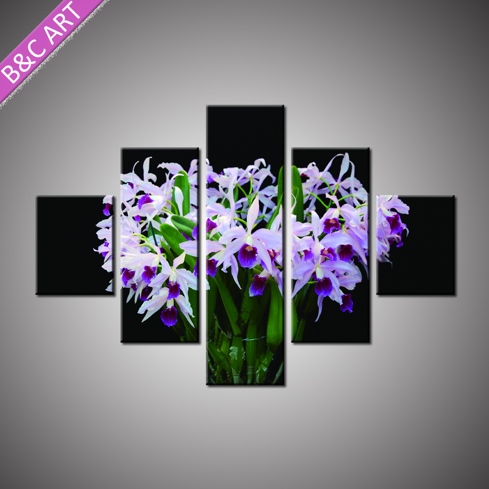 Butterfly Orchid Print Printed 3d Flower Wallpaper for Home Decor
