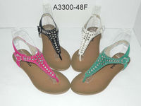 Latest lady sandals woman shoes 2013