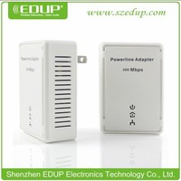 200Mbps HomePlug AV EDUP EP-PLC5515 Ethernet Mini Ethernet Bridge Powerline Adapter