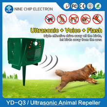 Solar ultrasonic cat dog repeller bird pigeon catcher for Garden
