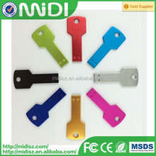 Metal Key Shaped colorful key USB 2.0 Flash Drive memory 4gb mini usb flash drive
