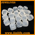 Transparent clear 2.5*2.5cm PVC plastic ice cubes for fresh