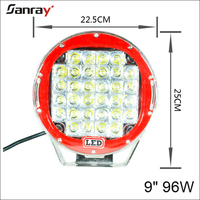 Round spot/flood 9inch 96w led driving light Off road Car Trucks 4x4WD auto accessories 96w 111w 185w 225w