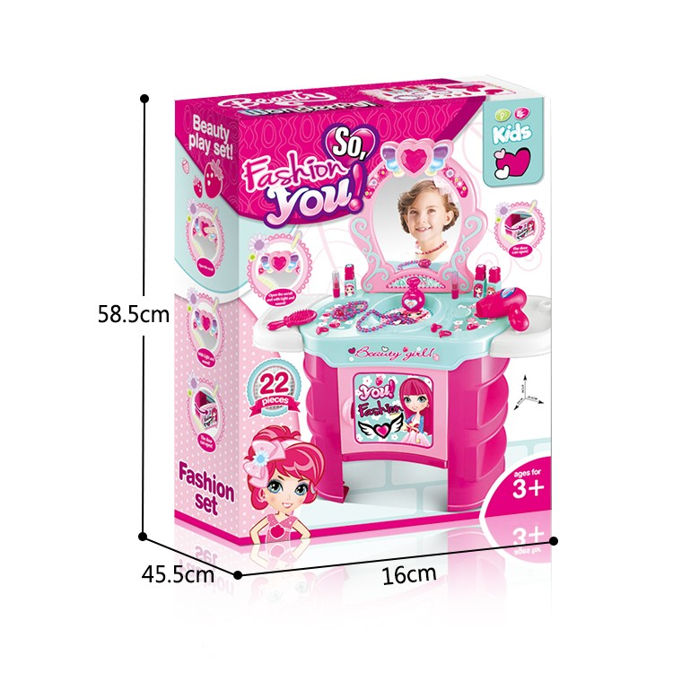 2017 Newest Girl's beauty pretend toys set