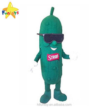 Funtoys CE Customizable Green Cucumber Vegetable Mascot Costume With Sunglasses