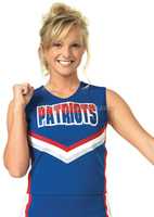 Supplex matellic shinny cheerleader uniform cheer outfits apparel