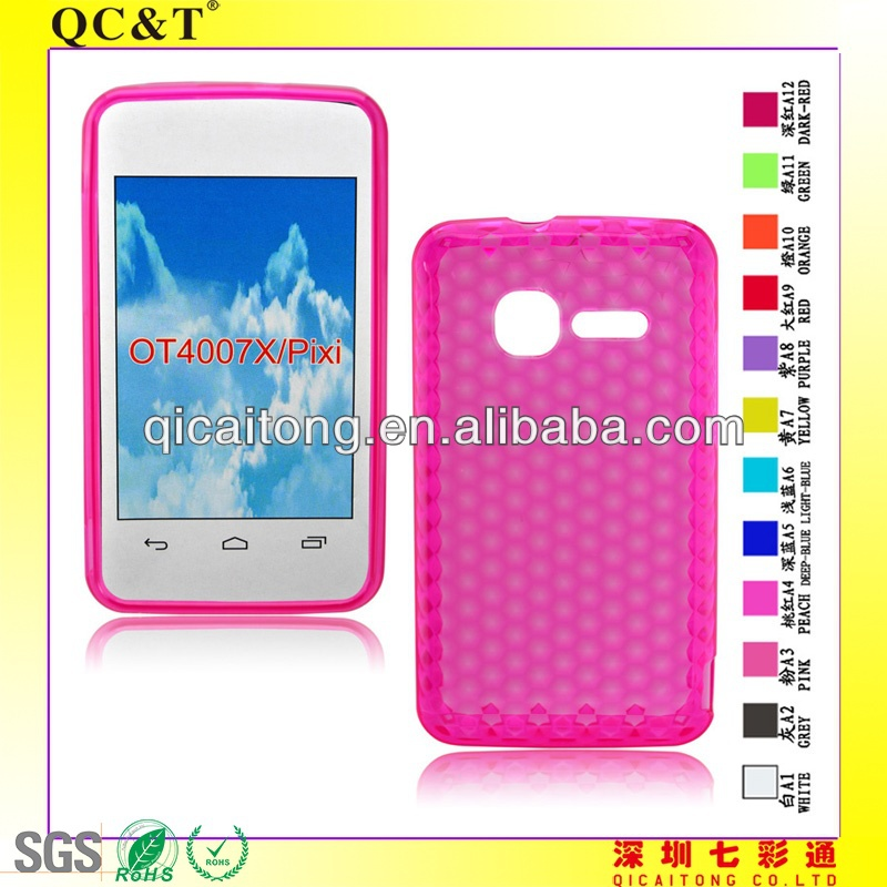 Hot selling luxury bling diamond crystal star soft case cover for alcatel ot4007/pixi