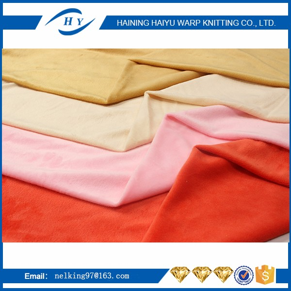 High quality 100% polyester soft velboa fabric for toys material made in china